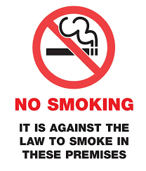 signs for no smoking