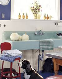 blue kitchen sinks