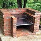 brick charcoal grill