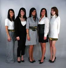 professional woman clothing