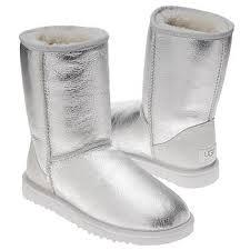 silver metallic ugg