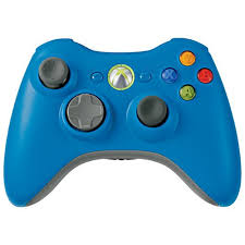 blue xbox controllers
