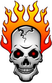 flaming skull clip art