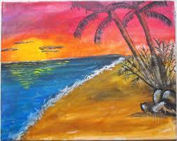 painting beach scene