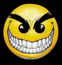 evil face smiley