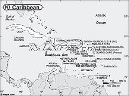caribbean outline map
