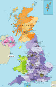 map of britain with cities