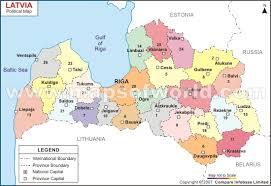 latvia on map