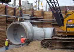 concrete sewer pipe