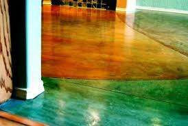 colored concrete floor