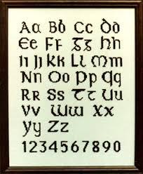 celtic alphabet lettering