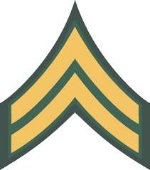 army rank patch