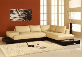 cream leather sectionals