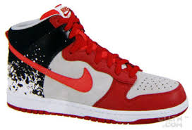 red black and white dunks
