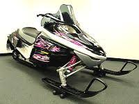 pink snowmobile