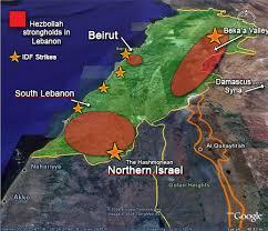 map of israel and lebanon