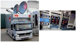 outside broadcast trucks