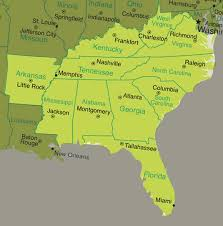 map of the southeast us