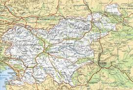 slovenija zemljevid