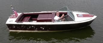 classic fiberglass boat