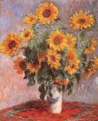 claude monet sunflowers