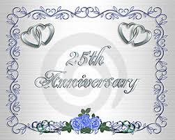 25th wedding anniversaries