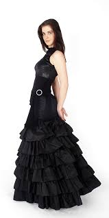 blue and black prom dress