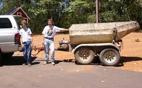 concrete trailer