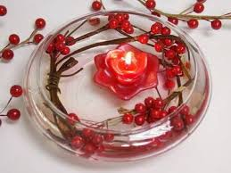 floating candles bowl