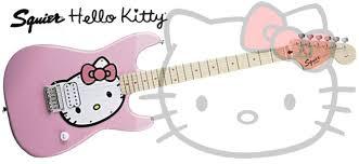 squier hello kitty guitar