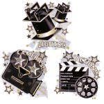 lights camera action clip art