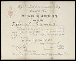 masters certificate