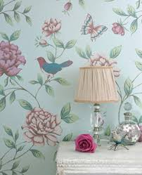 french floral wallpaper