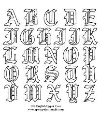 old english alphabet stencils