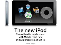 new touch screen ipod