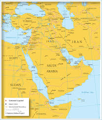 asia middle east map