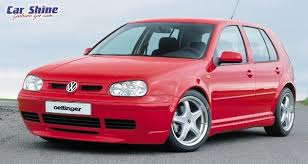 red vw golf