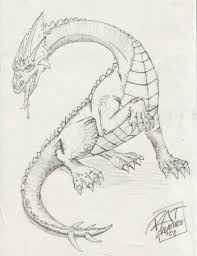 dragon pencil sketch
