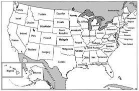 mapa de lo estados unidos