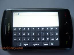 new touch screen blackberry