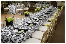 damask wedding reception