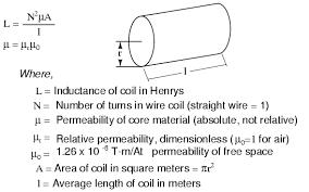 inductance formulas