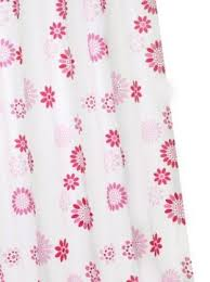 pink flower curtains
