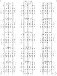 2009 and 2010 calendar