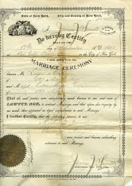 old marriage certificate