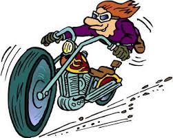 cartoon motorcycle