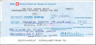 bank of america cheque