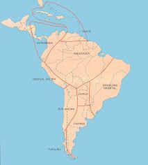 el mapa del continente americano