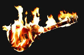 flaming guitars