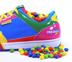 multi colored sneakers